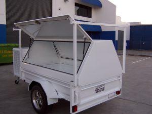 gas lift tool trailer doors